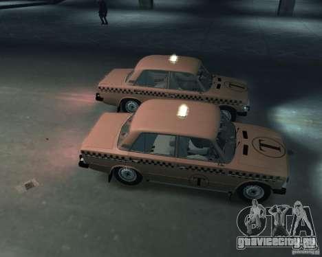 ВАЗ 2106 Такси для GTA 4 вид изнутри