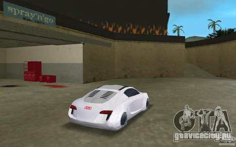 Audi RSQ concept для GTA Vice City вид сзади слева
