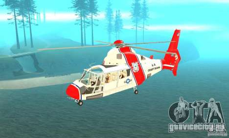 AS-365N береговой охраны США для GTA San Andreas
