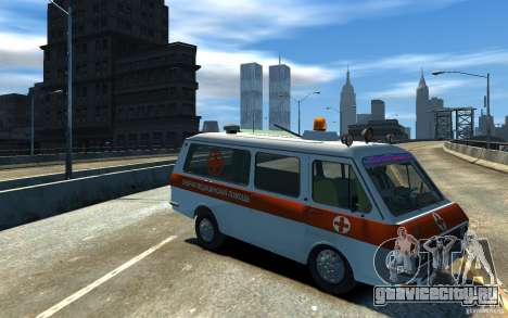 РАФ 2203 Ambulance для GTA 4 вид сзади слева