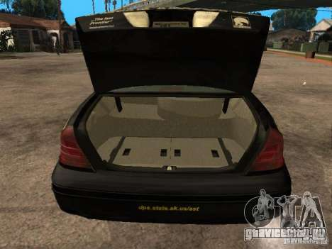 Ford Crown Victoria 2003 Police для GTA San Andreas вид сзади