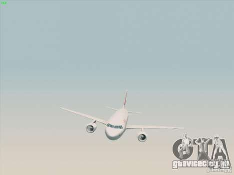 Airbus A319-112 Swiss International Air Lines для GTA San Andreas вид справа