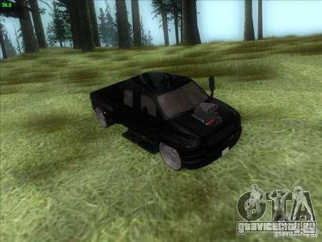 GMC C4500 Pickup DUB Style для GTA San Andreas вид сбоку