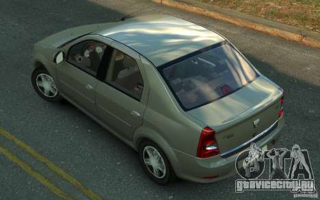 Dacia Logan 2008 для GTA 4 вид слева