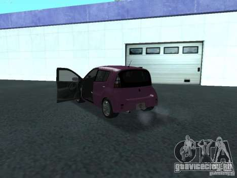 Toyota WiLL Cypha для GTA San Andreas вид сзади