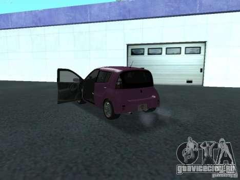 Toyota WiLL Cypha для GTA San Andreas вид сзади