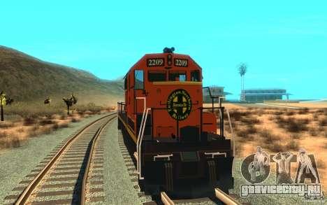 Локомотив SD 40 Union Pacific BNSF для GTA San Andreas вид справа