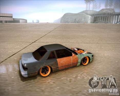 Nissan Silvia S13 Under Construction для GTA San Andreas вид изнутри