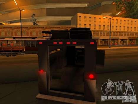 Monster Van для GTA San Andreas колёса
