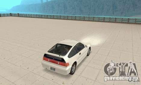 HONDA CRX II 1989-92 для GTA San Andreas вид справа