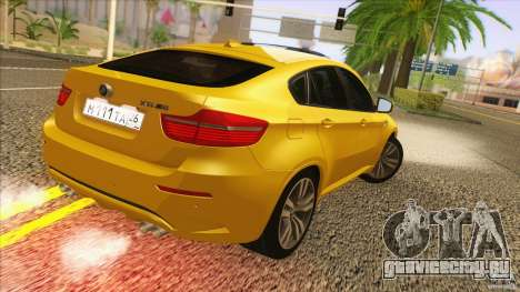BMW X6M E71 v2 для GTA San Andreas вид слева