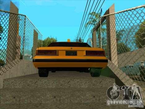 Intruder Taxi для GTA San Andreas вид сзади слева
