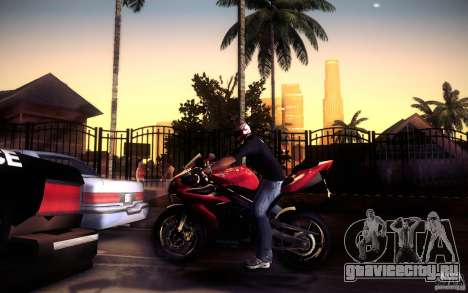 Yamaha YZF R1 для GTA San Andreas вид снизу