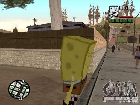 Sponge Bob для GTA San Andreas четвёртый скриншот