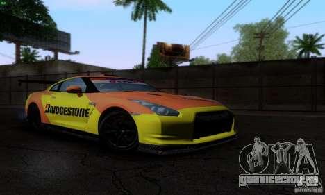 Nissan GTR R35 Tuneable для GTA San Andreas колёса