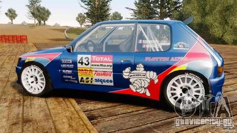 Peugeot 205 Maxi для GTA 4 вид слева