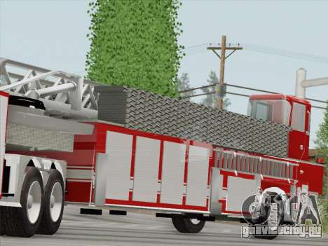 Pierce Arrow XT LAFD Tiller Ladder Trailer для GTA San Andreas вид изнутри