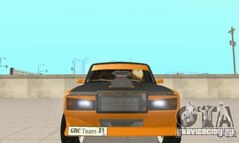 ВАЗ 2107 Off Road для GTA San Andreas вид изнутри