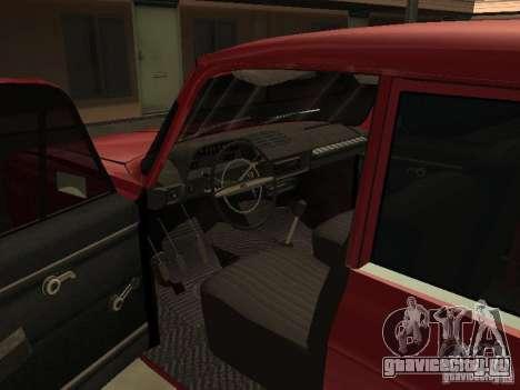 АЗЛК 412 IE для GTA San Andreas вид изнутри