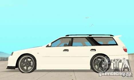 Nissan Stagea GTR для GTA San Andreas вид сзади