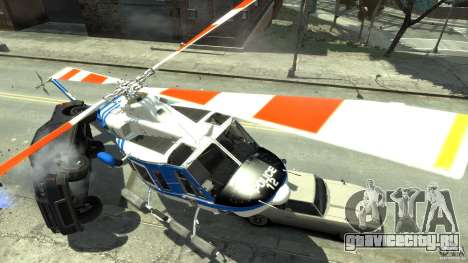 Bell412/NYPD Air Sea Rescue Helicopter для GTA 4 вид справа