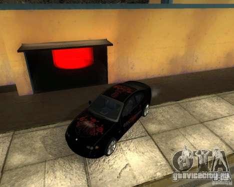 Vauxhall Monaro для GTA San Andreas вид изнутри