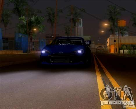 Subaru BRZ Stance для GTA San Andreas вид сзади