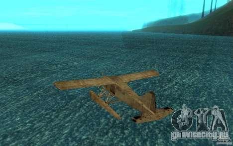 De Havilliand Beaver DHC2 для GTA San Andreas вид справа