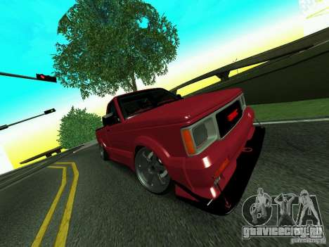 GMC Syclone Drift для GTA San Andreas вид изнутри