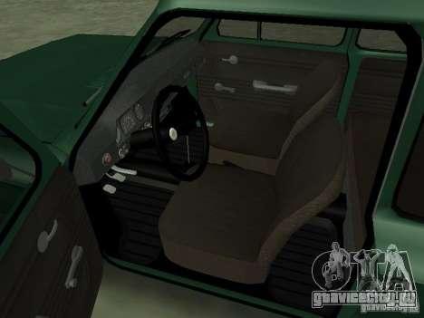 ЗАЗ-968М для GTA San Andreas вид сзади