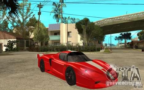 Ferrari FXX 2005 для GTA San Andreas вид изнутри