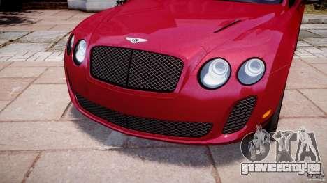Bentley Continental SS v2.1 для GTA 4 вид сбоку