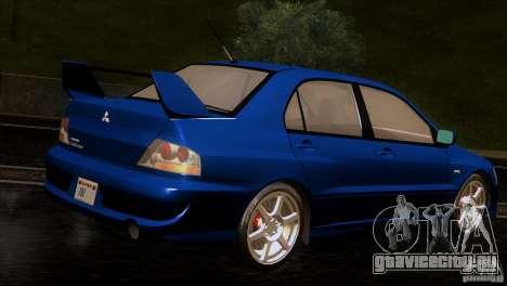 Mitsubishi Lancer Evolution IIIV для GTA San Andreas вид справа