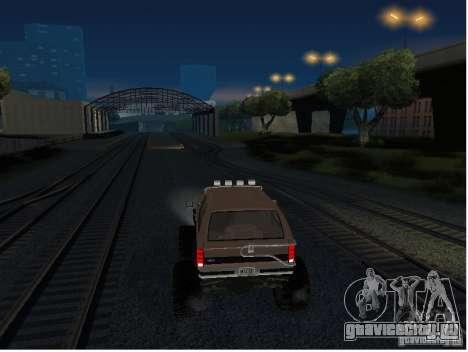 Ford Bronco IV Monster для GTA San Andreas вид сзади
