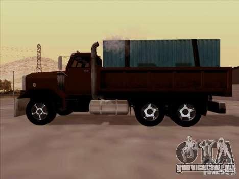 New Flatbed для GTA San Andreas вид изнутри