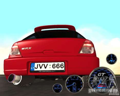 Subaru Impreza Universal для GTA San Andreas вид справа