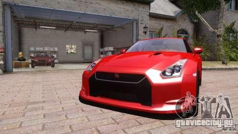 Nissan GTR R35 v1.0 для GTA 4 вид справа