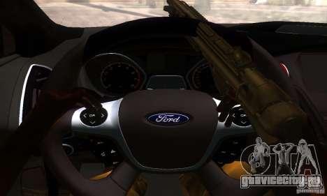 Ford Focus 3 для GTA San Andreas вид сзади