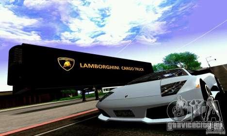 Lamborghini Cargo Truck для GTA San Andreas вид изнутри
