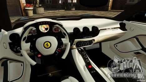 Ferrari F12 Berlinetta 2013 Stock для GTA 4 вид сзади
