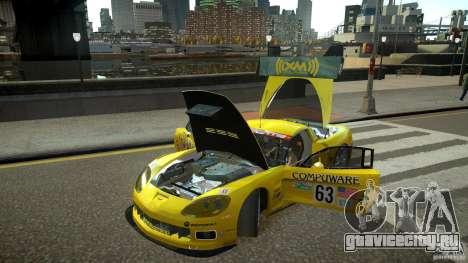 Chevrolet Corvette C6-R v2.0 для GTA 4 вид сзади