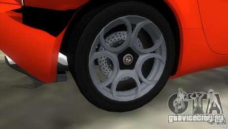 Alfa Romeo 8C Competizione для GTA Vice City вид изнутри