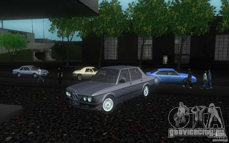 BMW E28 525e ShadowLine Stock для GTA San Andreas вид сзади