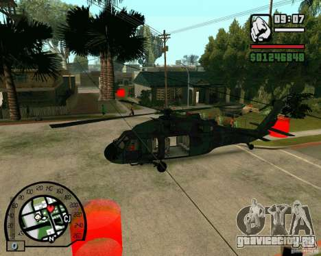 Blackhawk UH60 Heli для GTA San Andreas