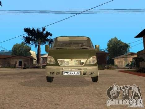 ГАЗ 3302 v2.0 (ГАЗель Эвакуатор) для GTA San Andreas вид справа