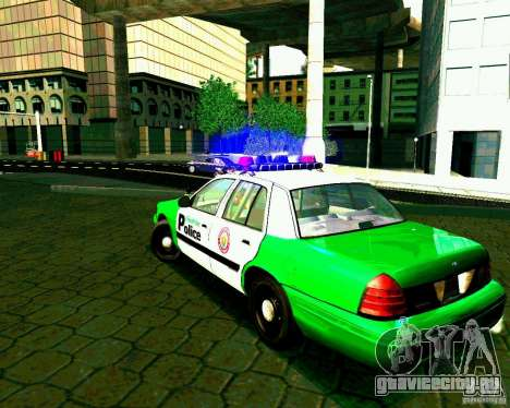 Ford Crown Victoria 2003 Police Interceptor VCPD для GTA San Andreas вид сзади слева