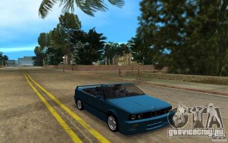 BMW M3 E30 Cabrio для GTA Vice City вид слева