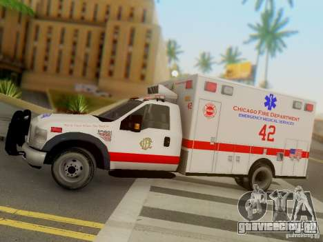 Ford F350 Super Duty Chicago Fire Department EMS для GTA San Andreas вид изнутри