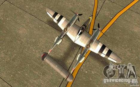 P38 Lightning для GTA San Andreas вид справа