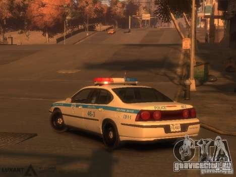 Chevrolet Impala Police 2003 для GTA 4 вид слева